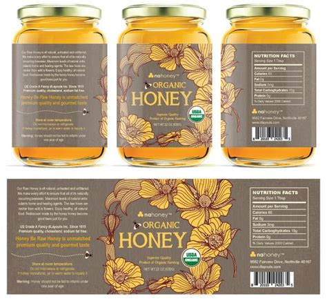 food label design exles honey label label templates and honey on pinterest