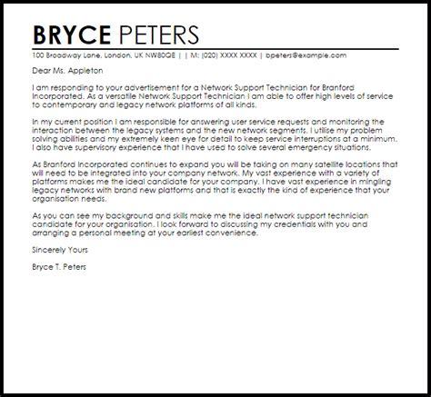 cover letter for network technician stunning technical support technician cover letter gallery