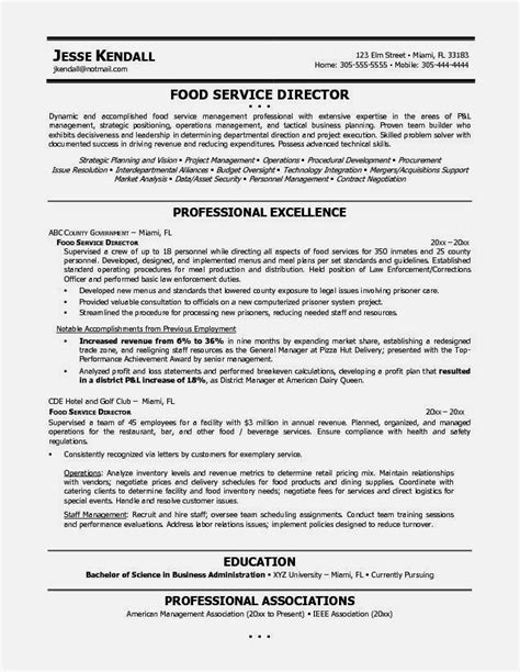 Food Service Resume Template by Exle Resume Food Service Resume Template Cover Letter
