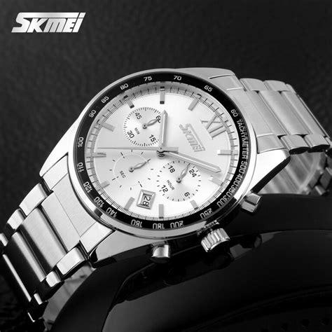 Jam Tangan Pria Skmei Stainless Water Resistant 30m 9101 M skmei jam tangan pria casual stainless water