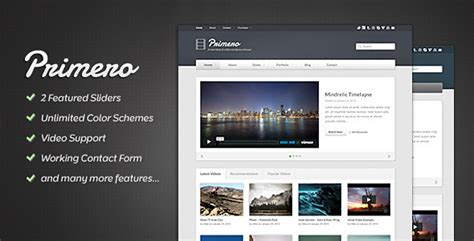 html5 player template primero site template html others themeforest
