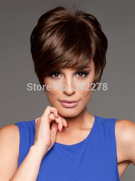 haircut sle hot sale pixie cut hairstyle synthetic wigs short wavy