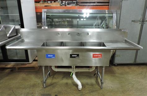 used 3 compartment stainless steel sink commercial stainless steel 3 compartment sink sinks
