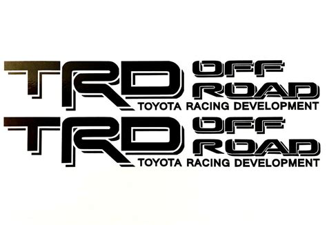 Toyota Trd Stickers