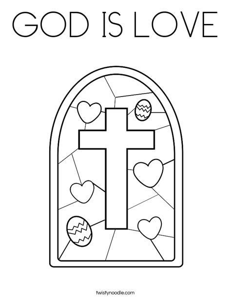 God Is Love Coloring Page Twisty Noodle God Is Coloring Pages