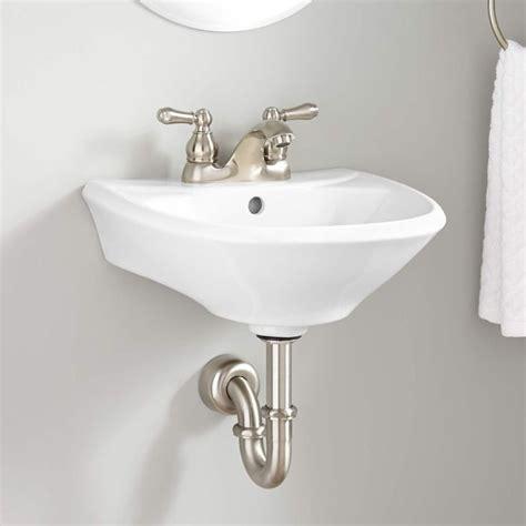 farnham porcelain mini pedestal sink 25 best ideas about wall mounted bathroom sinks on