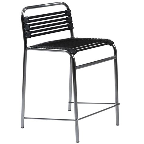 Flattened Stools by Bungie Flat Counter Stool Black Chrome Bar Stools