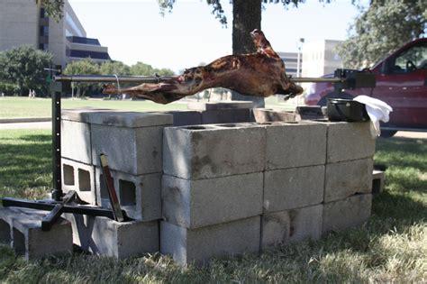 cinder block pit cinder block pit barbecue