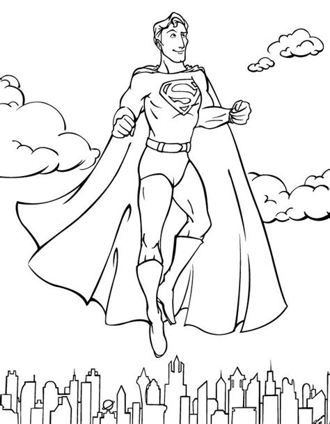 superman coloring pages free online cooloring com