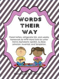 Words Their Way Parent Letter Kindergarten 1000 images about word sort on word study