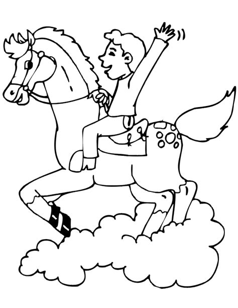 coloring pages of horse riding horse coloring page boy riding galloping horse