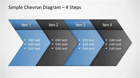 powerpoint chevron template simple chevron diagram for powerpoint slidemodel
