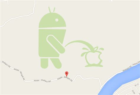 apple maps for android update apologizes removes it oh no they didn t a android pees on apple in