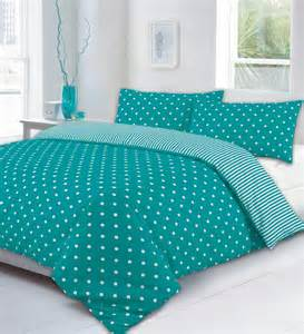 teal and white polka dots viewing gallery