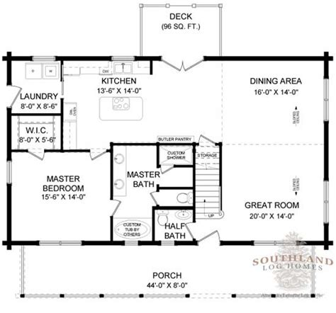 southland floor plan coosa log home plan by southland log homes