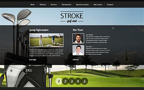 Golf Website Template 39569 Golf Website Template Free
