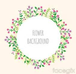 cartoon flower ring background vector free download