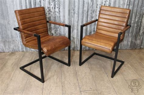Vintage Leather Dining Chair Vintage Style Leather Chairs Leather
