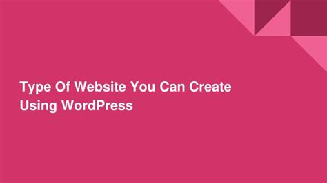 websites where you can draw ppt type of websites you can create using wordpress