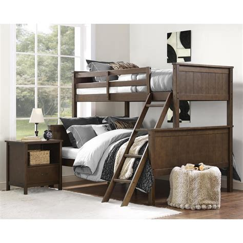 bunk bed twin over twin dorel maxton mocha twin over full bunk bed fa1008tfbb