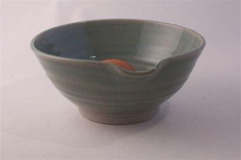 10 lip ceramic bowls mixing bowl with pouring lip pale stoneware celadon glaze