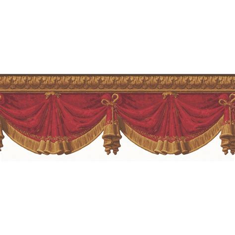 gold wallpaper border the wallpaper company 8 in x 10 in red and gold drapery