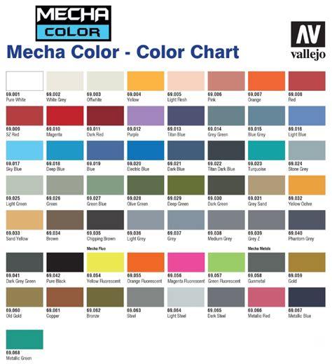 vallejo color vallejo mecha color paint