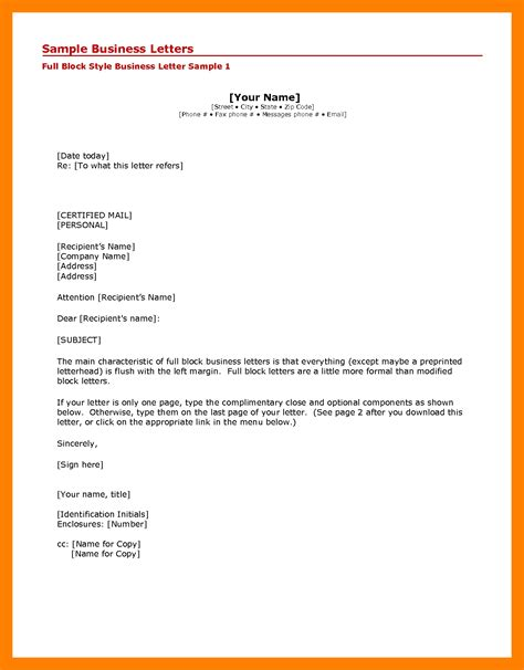 Business Letter Templates With Cc Addresses 6 Business Letter Format Cc Exle Of Memo