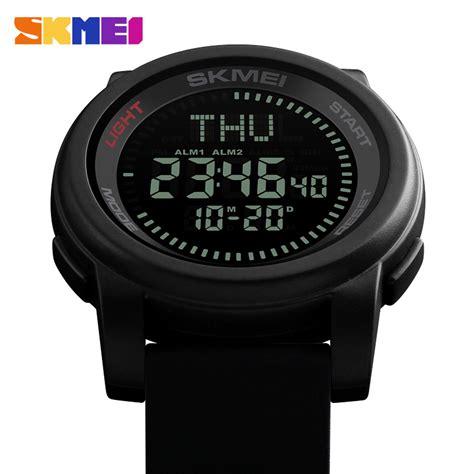 skmei jam tangan kompas digital pria 1289 black jakartanotebook