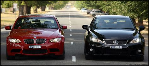 bmw m3 versus lexus is f photos 1 of 18