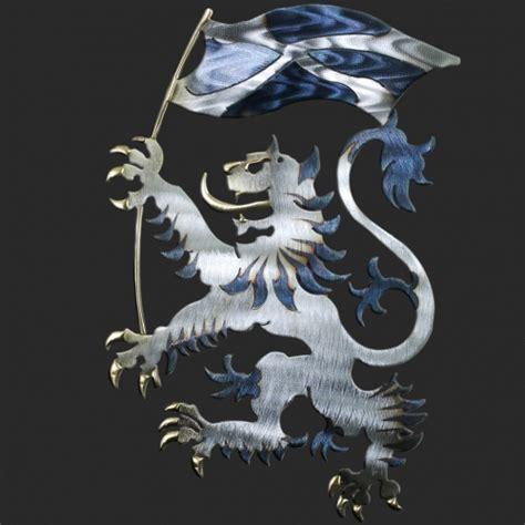 Giant Wall Clock Scottish Lion Flag Med Lrg Gnt Metal Wall Art H 37cm