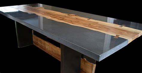 concrete and wood table by keelin kennedy cheng concrete