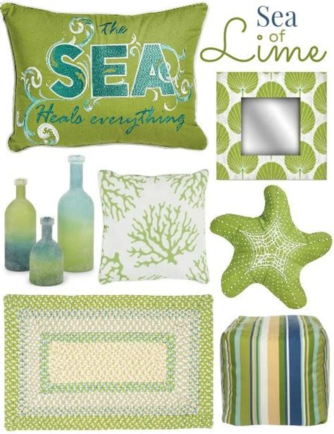 lime green decor for coastal living at caron s house