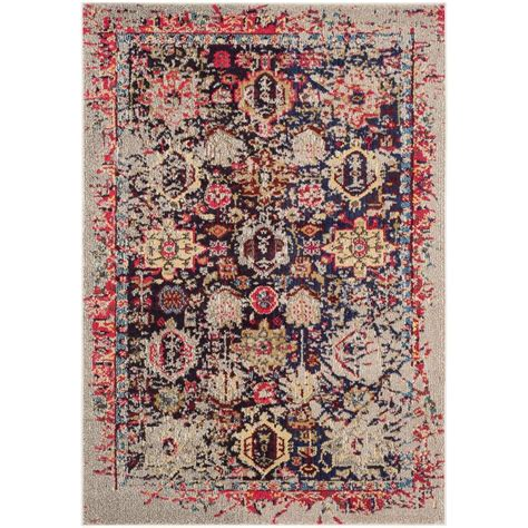 4 x 5 area rug safavieh monaco grey multi 4 ft x 5 ft 7 in area rug mnc206g 4 the home depot