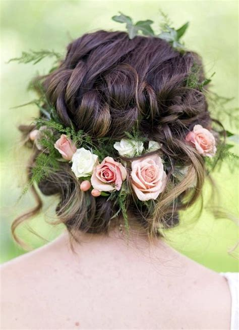 Wedding Updos With Flowers In Hair by 1000 Ideas About Wedding Hairstyles On Modern