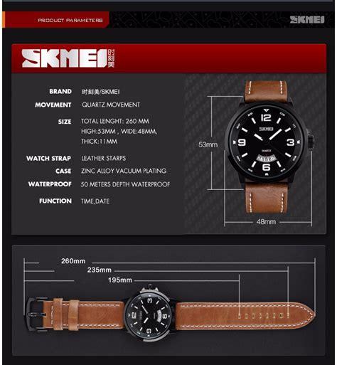 Special Skmei Casual Leather Water Resistant 30m 9092cl skmei jam tangan analog pria 9115cl black brown jakartanotebook