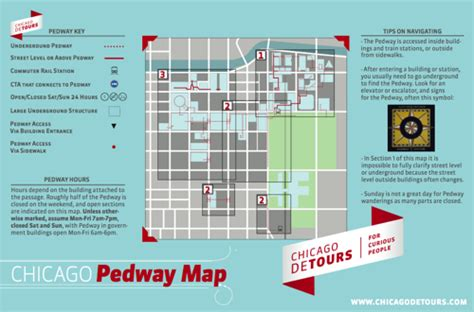 chicago pedway map chicago pedway map underground tunnel system tours