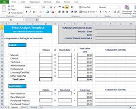 Cost Analysis Spreadsheet Template Price Analysis Spreadsheet Template Excel Tmp