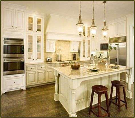 antique white kitchen with wood floors and an white shaker kitchen cabinets wood floors home