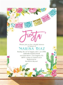 floral wedding invitation diy pink flowers and cactus fiesta bridal shower invitation mexican bridal brunch