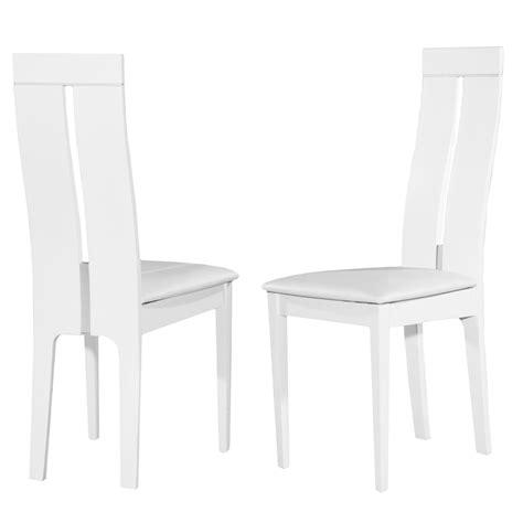 chaise bahia bois massif blanc lot de 2 chaise topkoo
