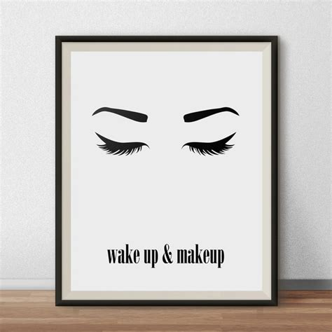 Makeup Wall Art Printable | aliexpress com buy wake up and makeup wall art