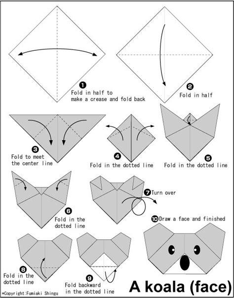 Easy Origami Tiger - easy origami for koala cat tadpole panda