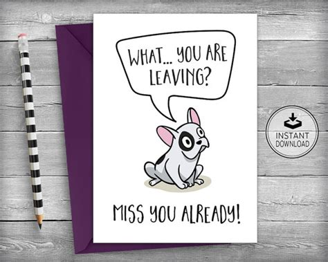 moving away card template farewell card new cards goodbye cards going away