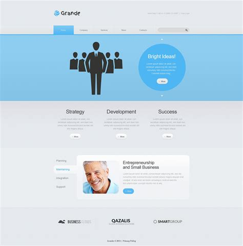 free responsive website templates for advertising agency marketing agency responsive website template 46354
