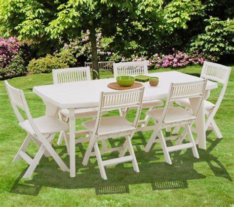 salon de jardin pvc blanc salon de jardin en pvc blanc 6 personnes trigano store