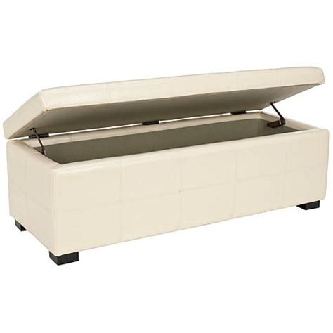 cream bench safavieh maiden tufted large storage bench flat cream hsn
