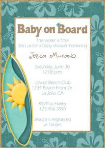 themed baby shower invitation