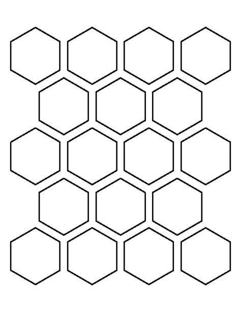 Hexagon Patchwork Templates - 2 inch hexagon pattern use the printable outline for