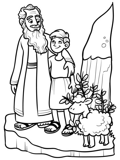 Coloring Page Isaac And Abraham by Abraham And Isaac Coloring Pages 139 Education